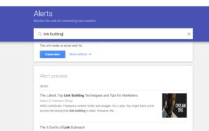 Google Alerts for Link Building